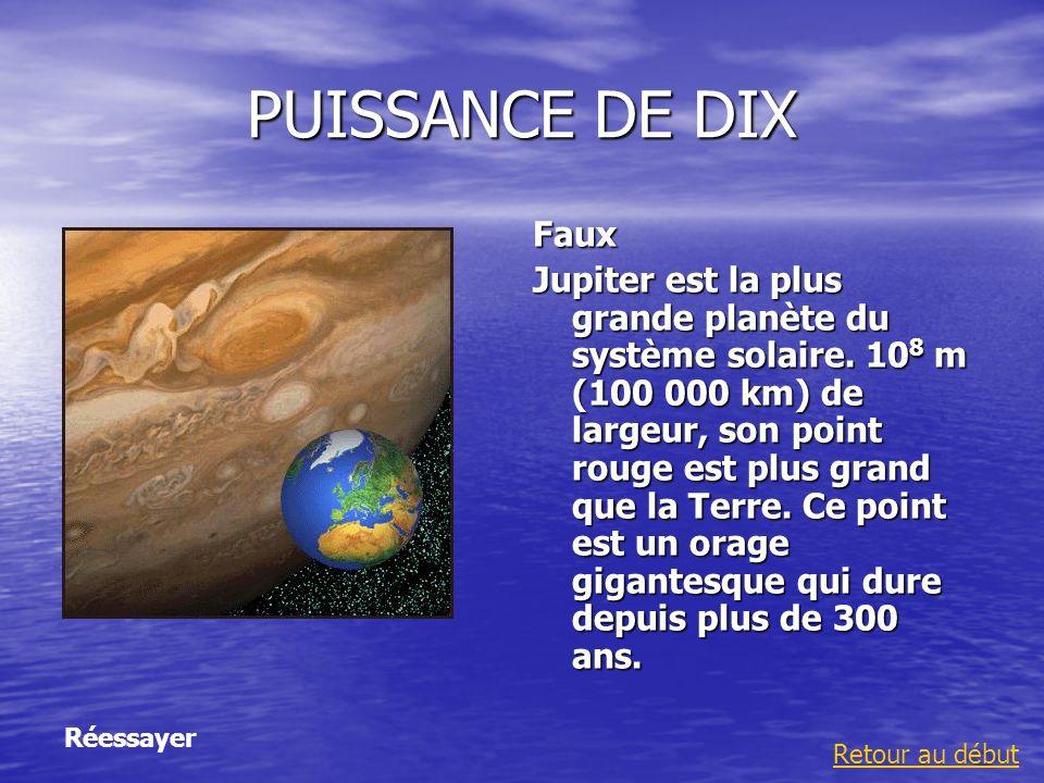 PUISSANCE DE DIXFaux.