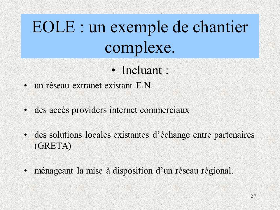 EOLE : un exemple de chantier complexe.