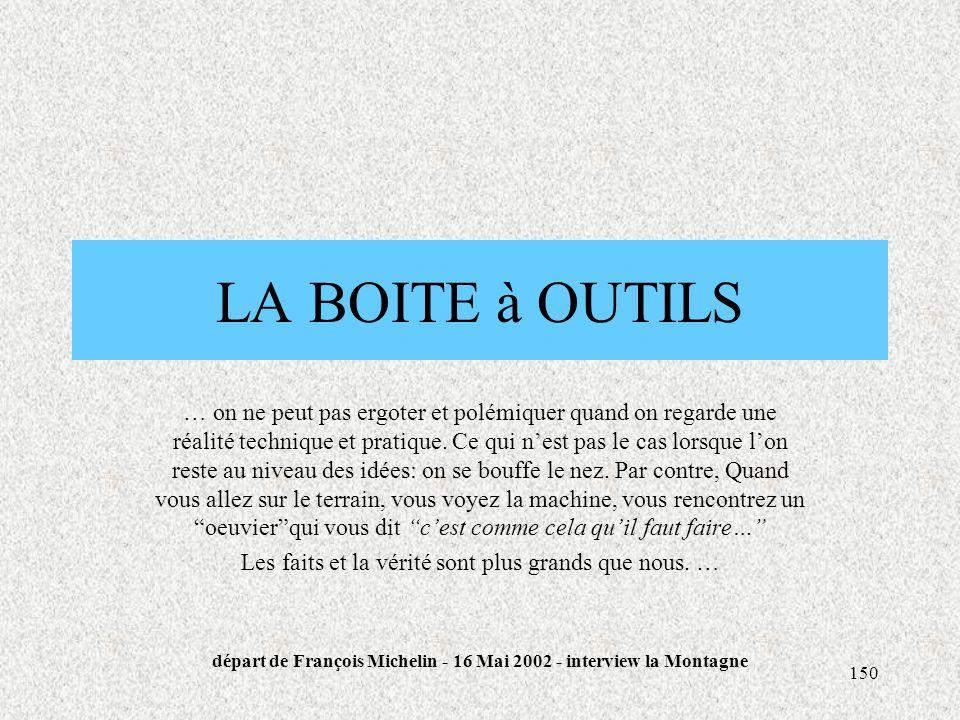 départ de François Michelin - 16 Mai 2002 - interview la Montagne