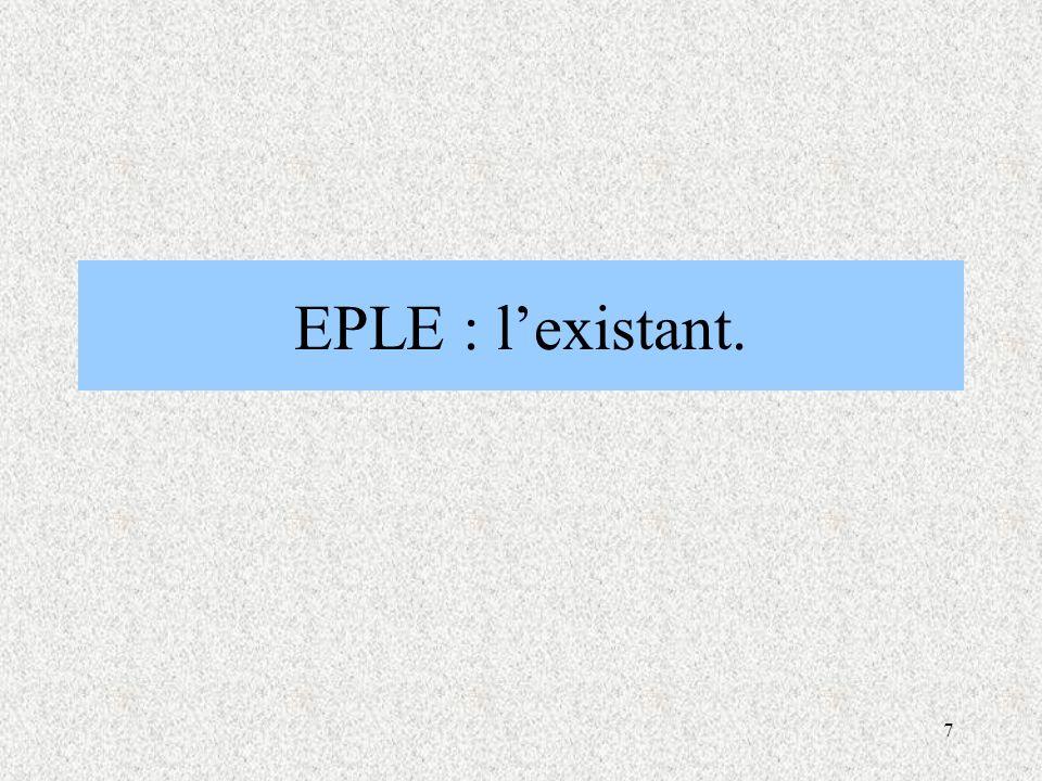 EPLE : l'existant.