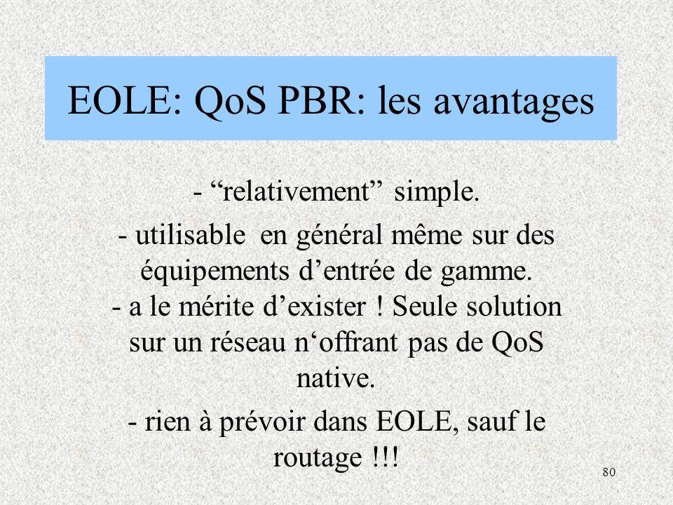 EOLE: QoS PBR: les avantages