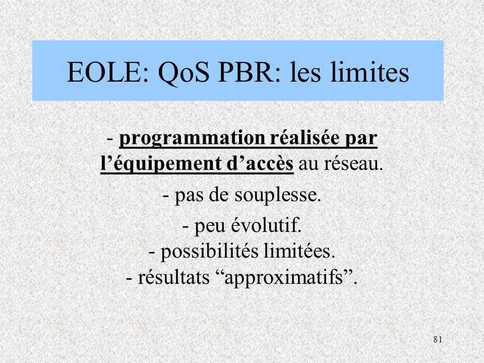 EOLE: QoS PBR: les limites