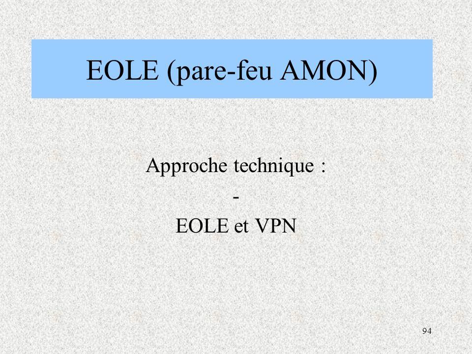 Approche technique : - EOLE et VPN