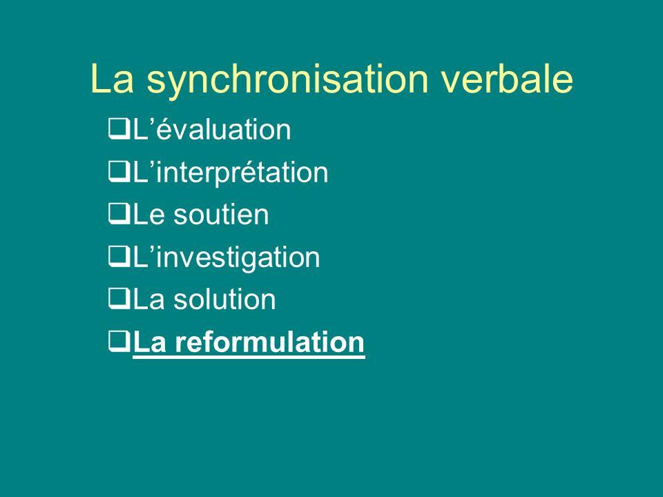 La synchronisation verbale