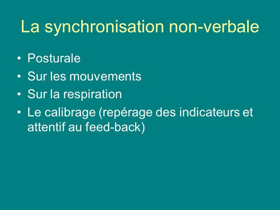 La synchronisation non-verbale