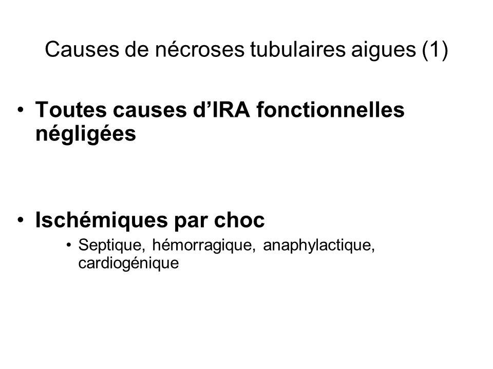 Causes de nécroses tubulaires aigues (1)