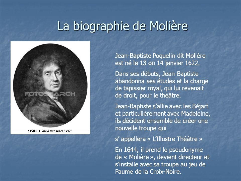 La biographie de Molière