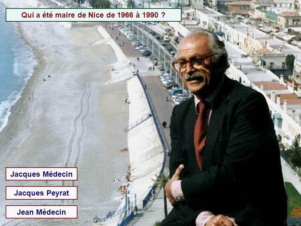 Qui a été maire de Nice de 1966 à 1990
