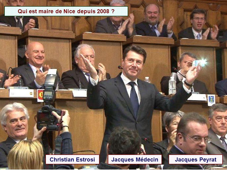 Qui est maire de Nice depuis 2008