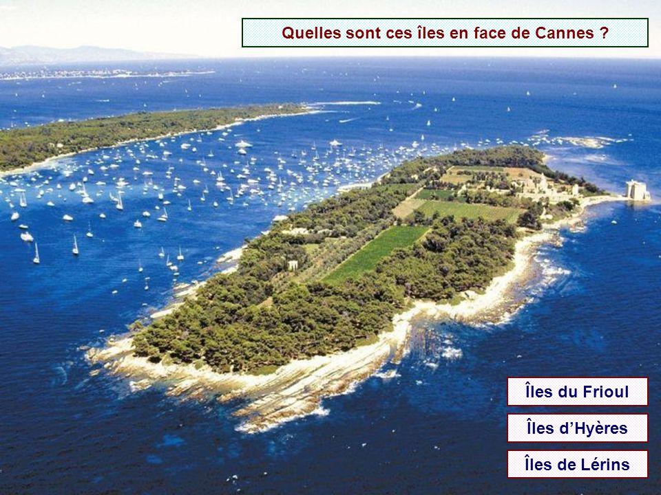 Quelles sont ces îles en face de Cannes