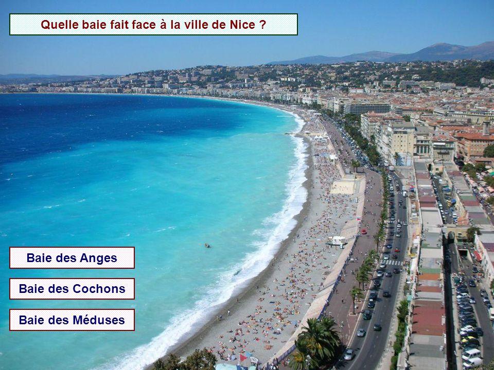 Quelle baie fait face à la ville de Nice