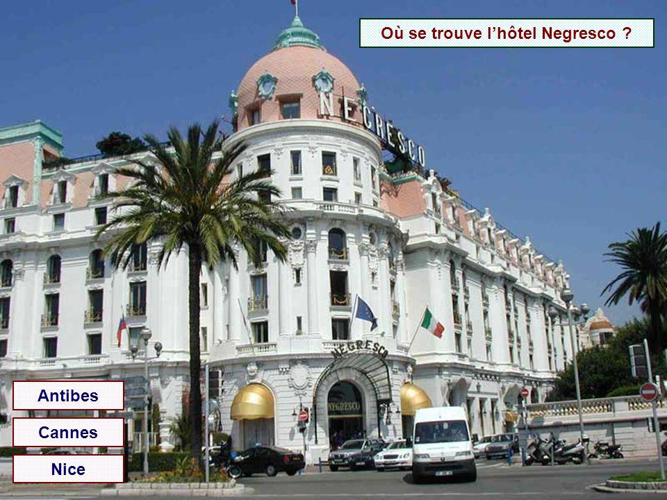 Où se trouve l'hôtel Negresco