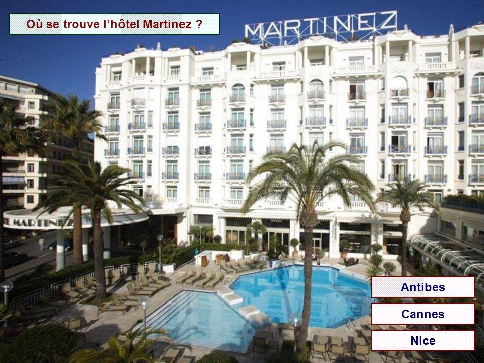 Où se trouve l'hôtel Martinez