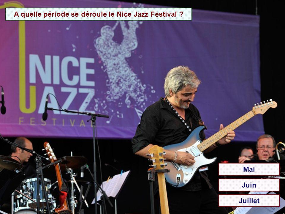 A quelle période se déroule le Nice Jazz Festival