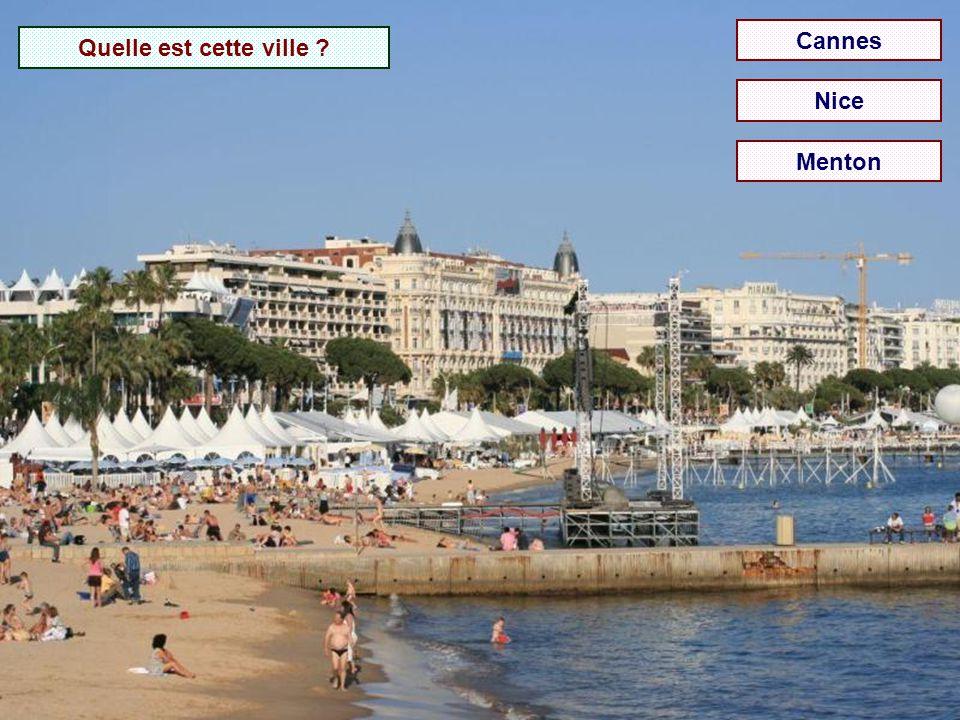 Cannes Quelle est cette ville Nice Menton