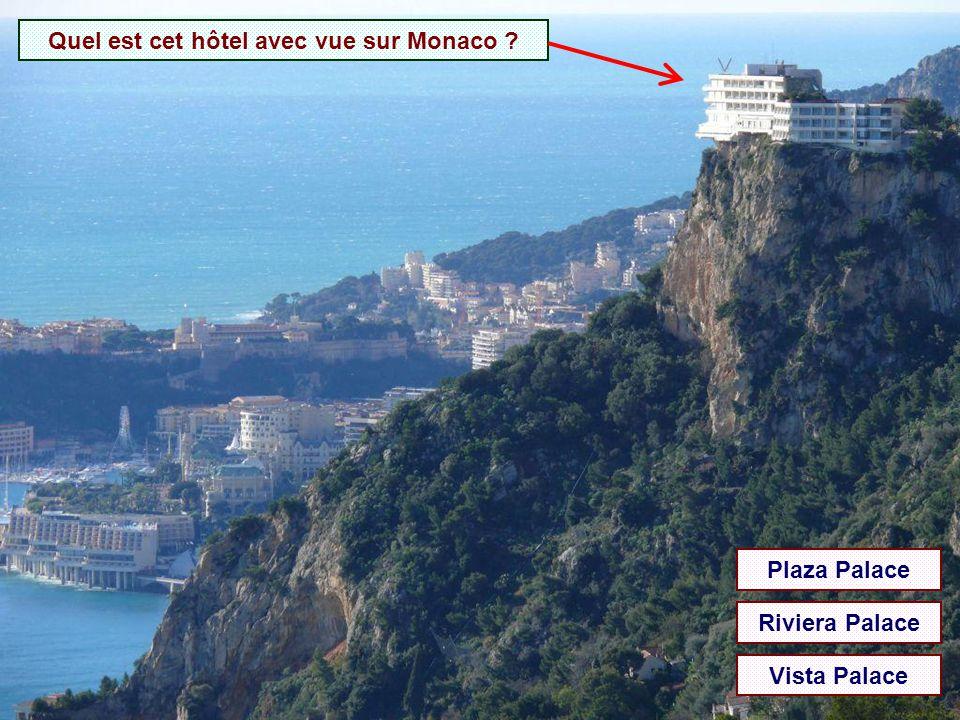 Quel est cet hôtel avec vue sur Monaco