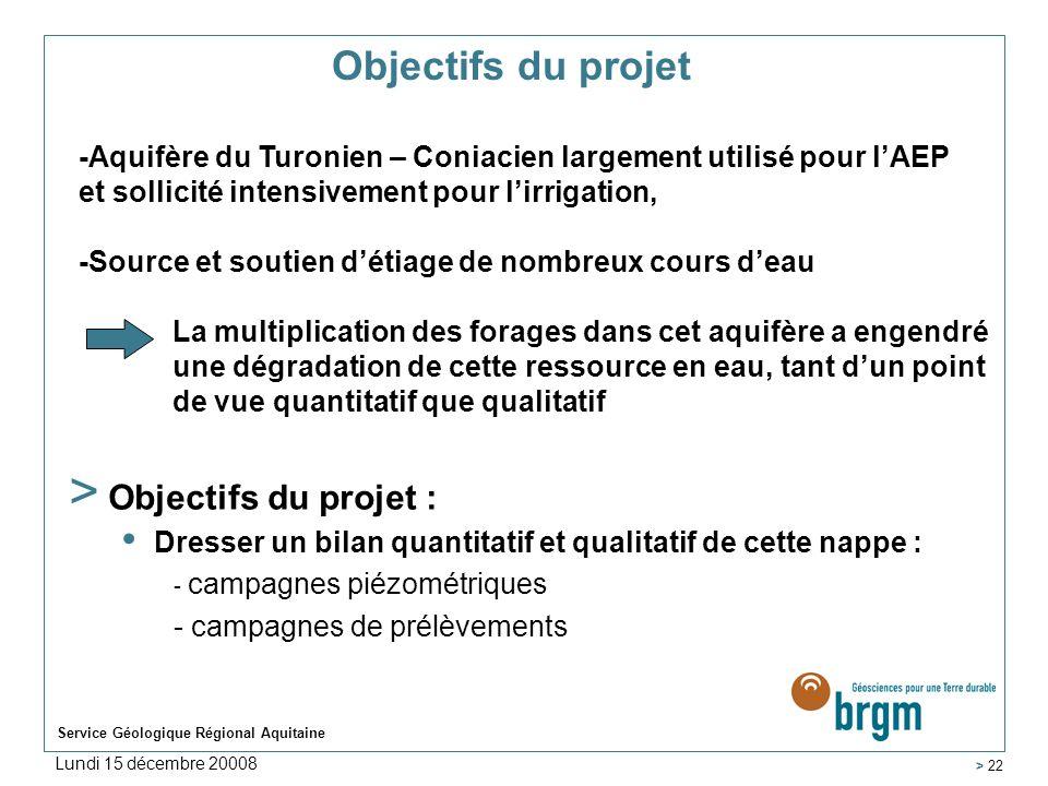Objectifs du projet Objectifs du projet :