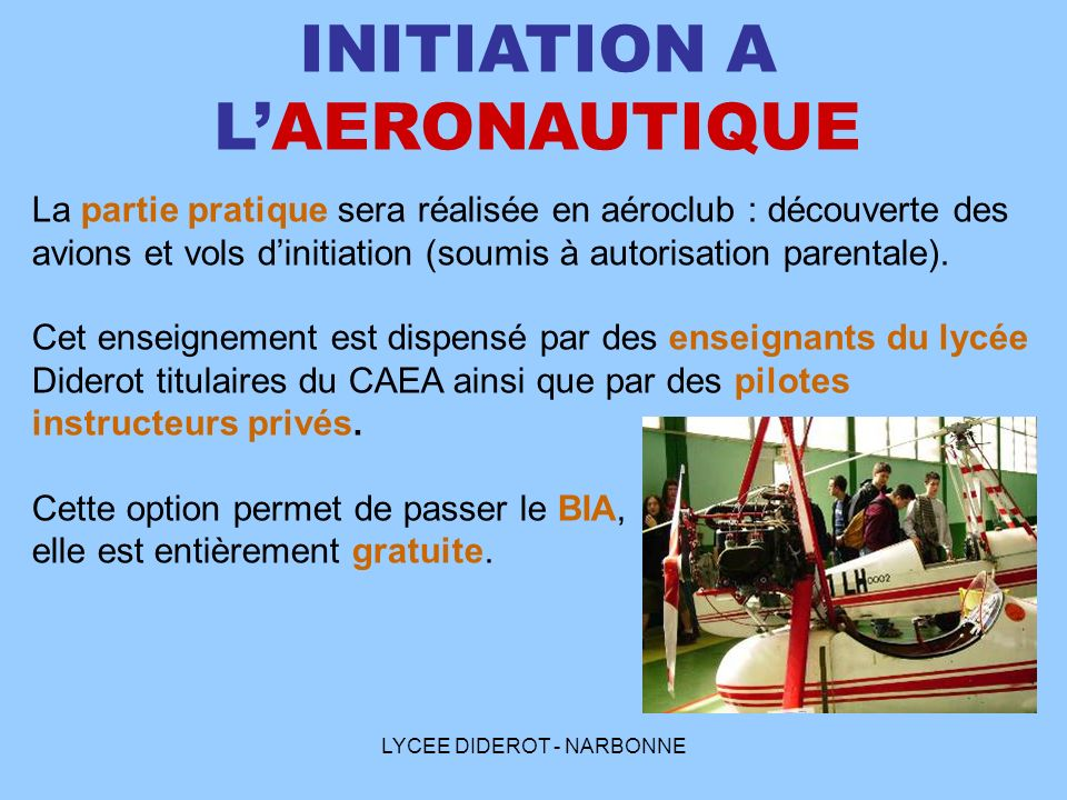 INITIATION A L'AERONAUTIQUE