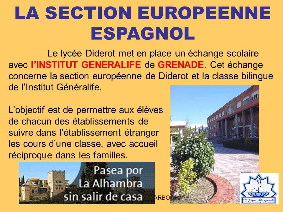 LA SECTION EUROPEENNE ESPAGNOL