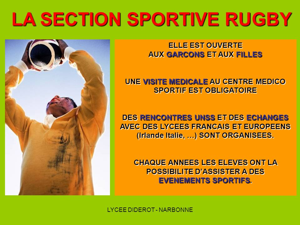 LA SECTION SPORTIVE RUGBY