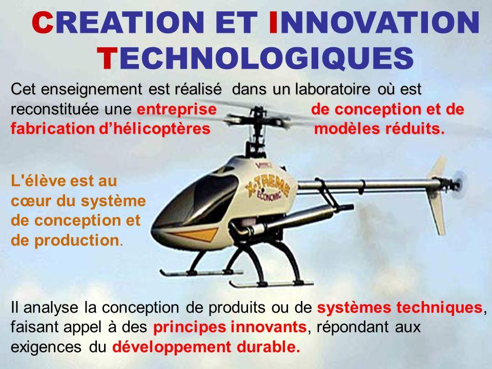 CREATION ET INNOVATION TECHNOLOGIQUES