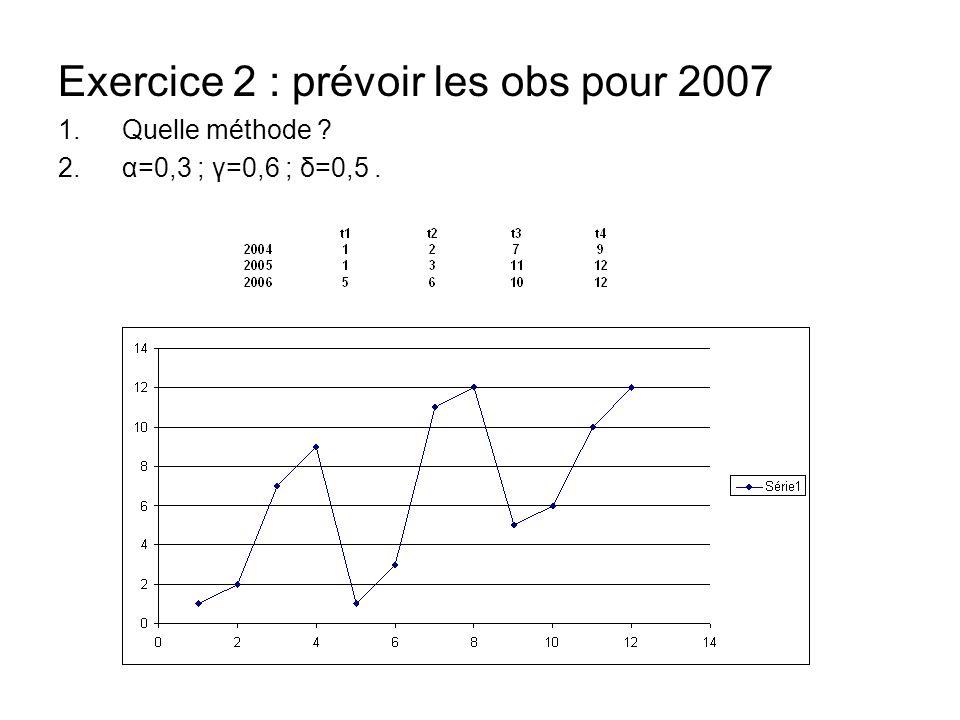Exercice 2 : prévoir les obs pour 2007