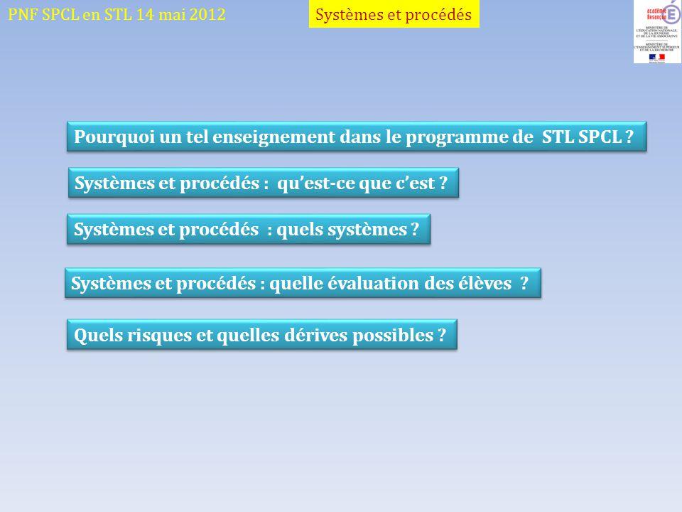 Pourquoi un tel enseignement dans le programme de STL SPCL