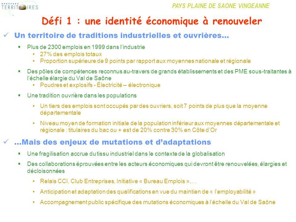 Défi 1 : une identité économique à renouveler