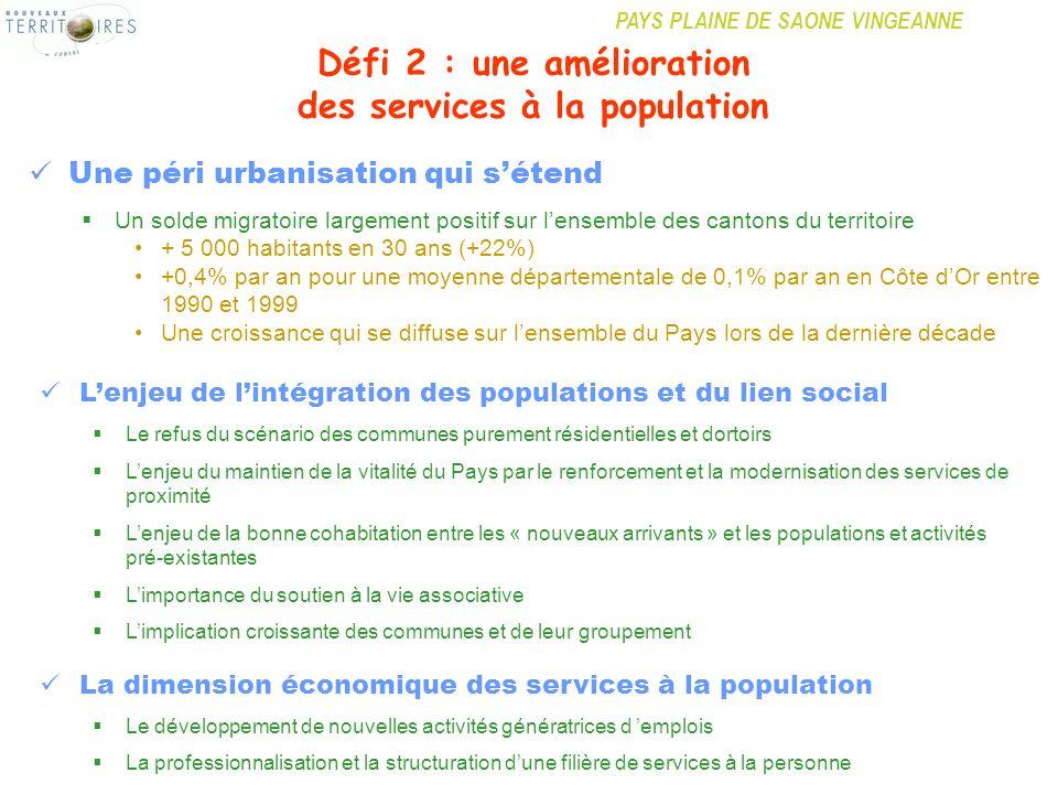 Défi 2 : une amélioration des services à la population