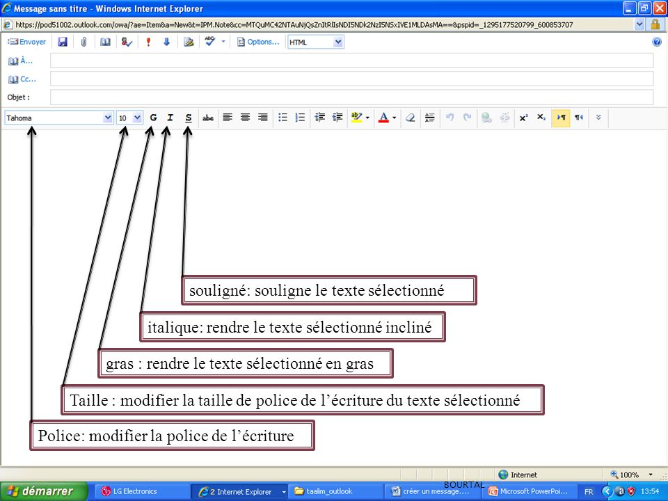 Police: modifier la police de l'écriture