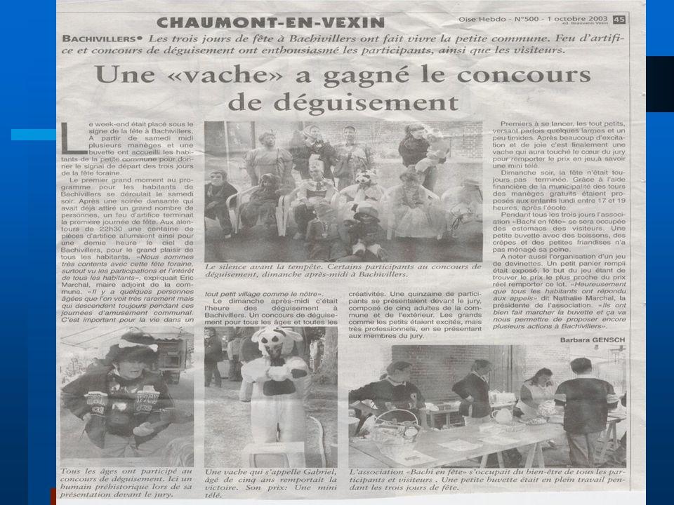 Article de journal Une journaliste de l'Oise Hebdo (parution tous les mercredis) était présente le dimanche après-midi.