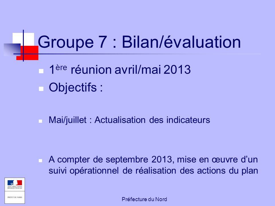 Groupe 7 : Bilan/évaluation