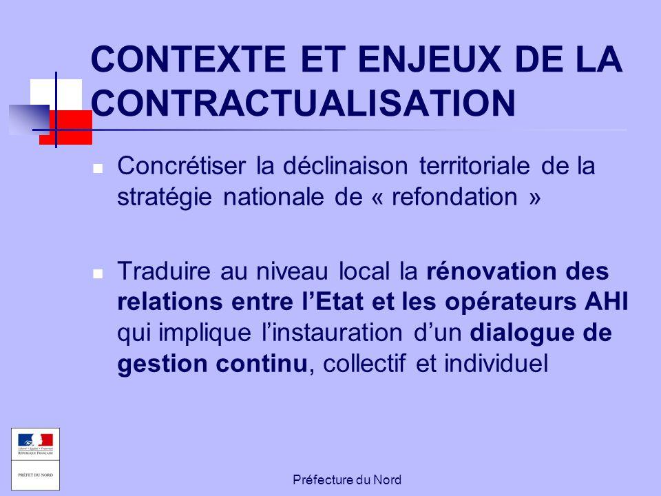 CONTEXTE ET ENJEUX DE LA CONTRACTUALISATION