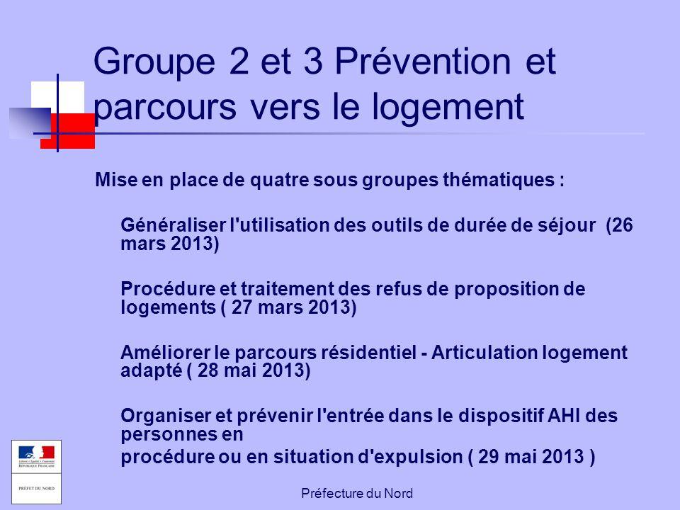 Groupe 2 et 3 Prévention et parcours vers le logement