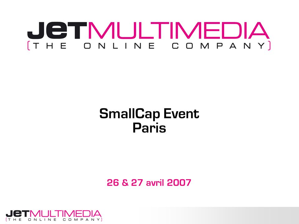 SmallCap Event Paris 26 & 27 avril 2007