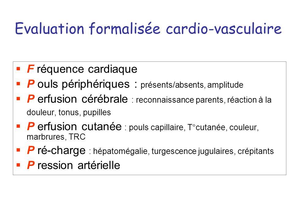 Evaluation formalisée cardio-vasculaire