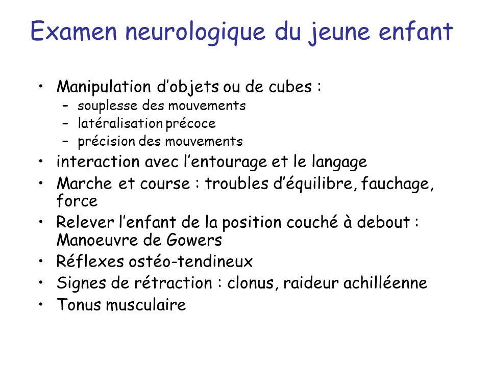 Examen neurologique du jeune enfant
