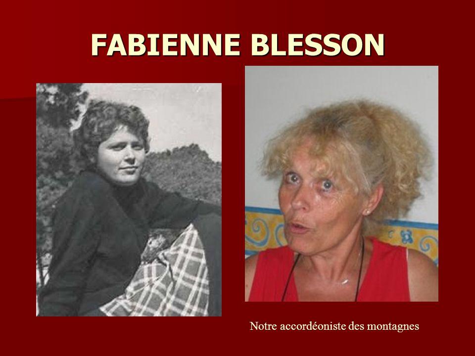 FABIENNE BLESSON Notre accordéoniste des montagnes