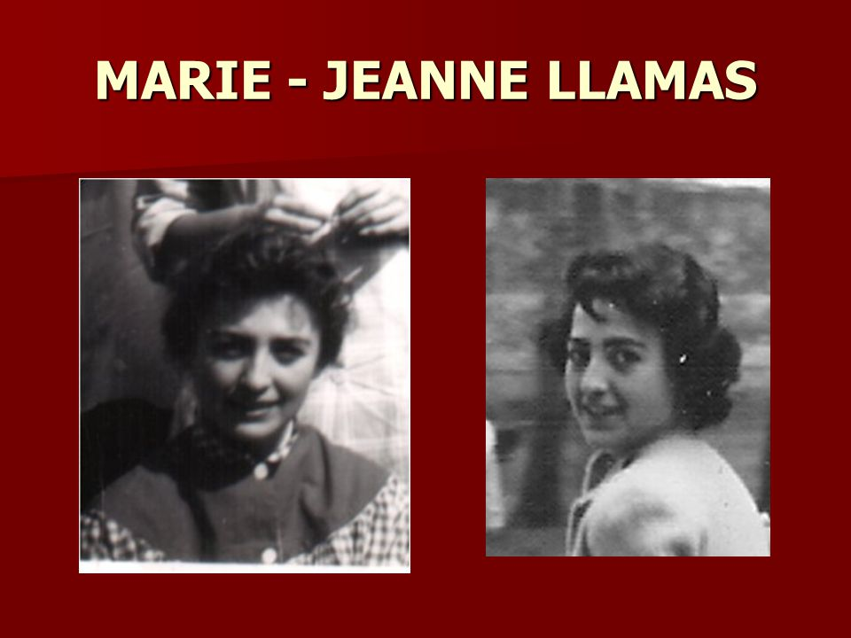 MARIE - JEANNE LLAMAS