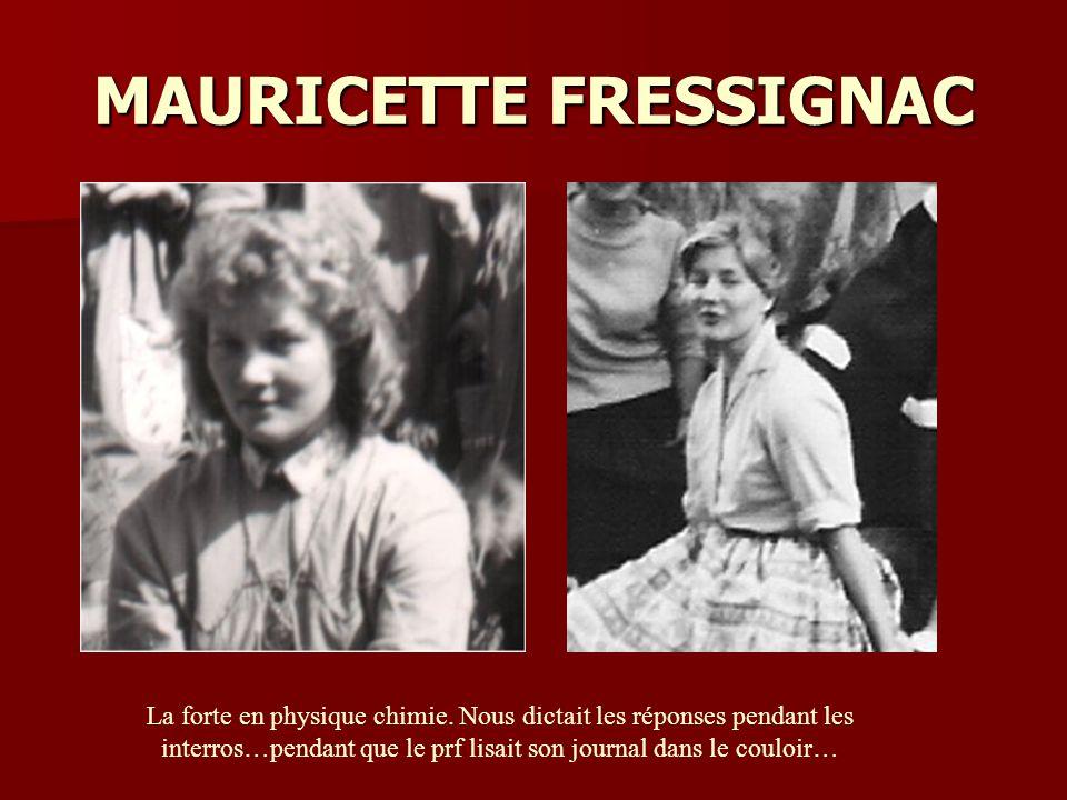 MAURICETTE FRESSIGNAC