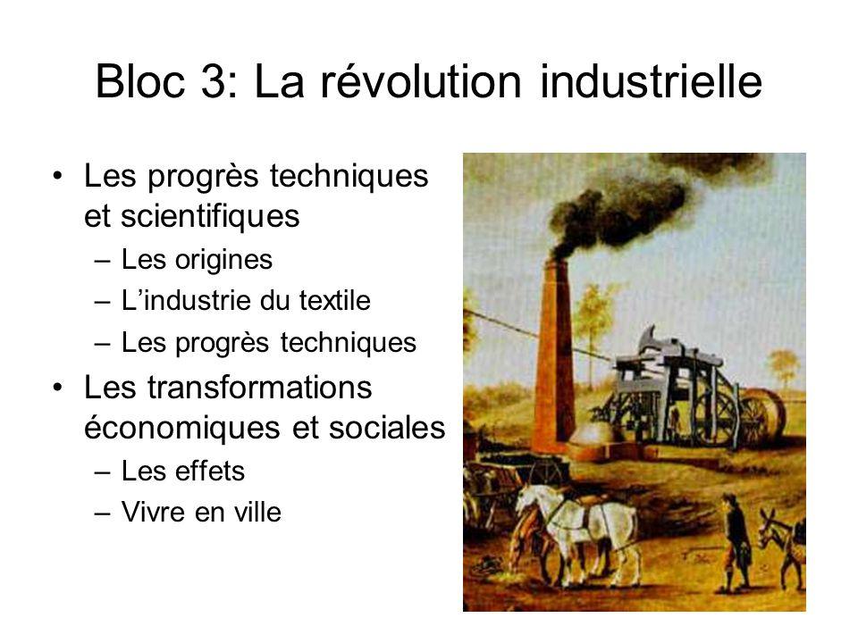 Bloc 3: La révolution industrielle