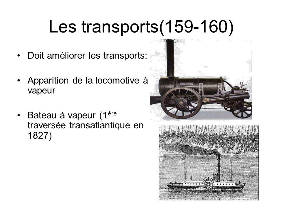 Les transports(159-160) Doit améliorer les transports: