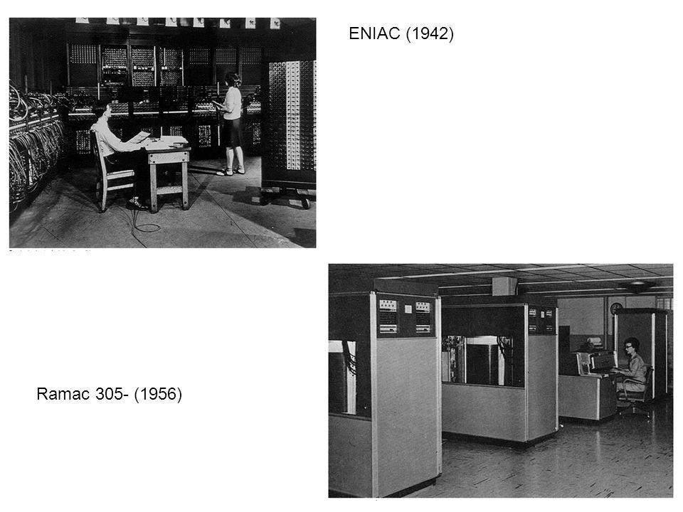 ENIAC (1942) Ramac 305- (1956)