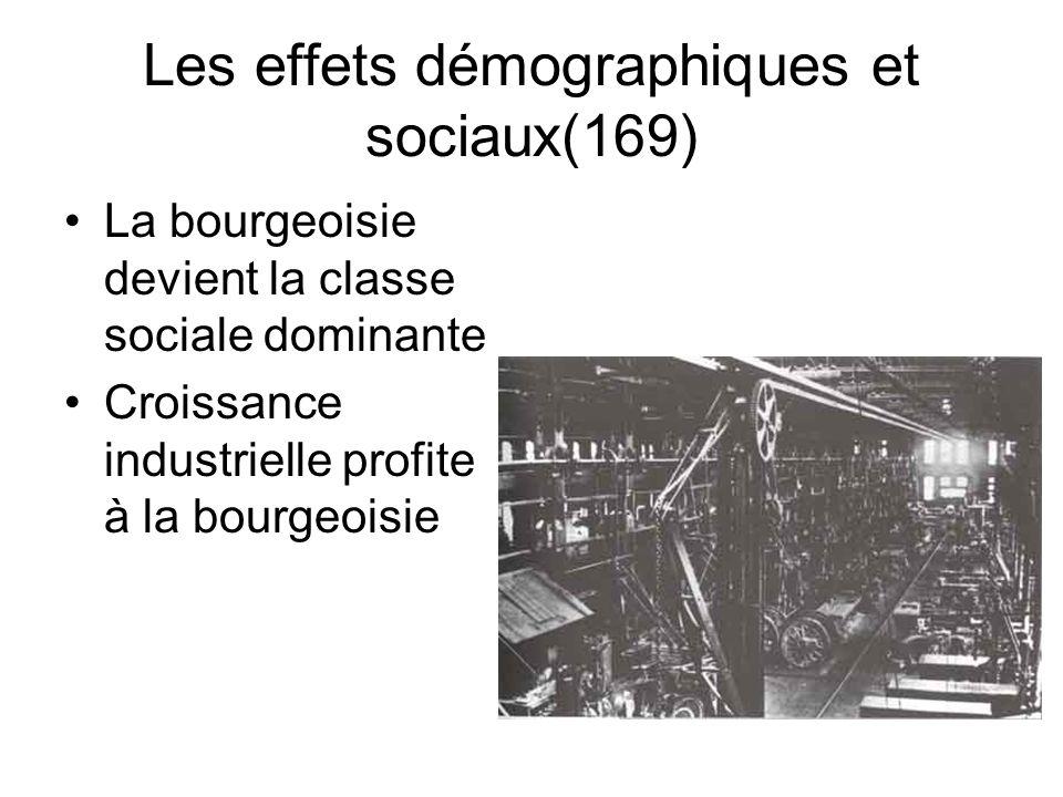 Les effets démographiques et sociaux(169)