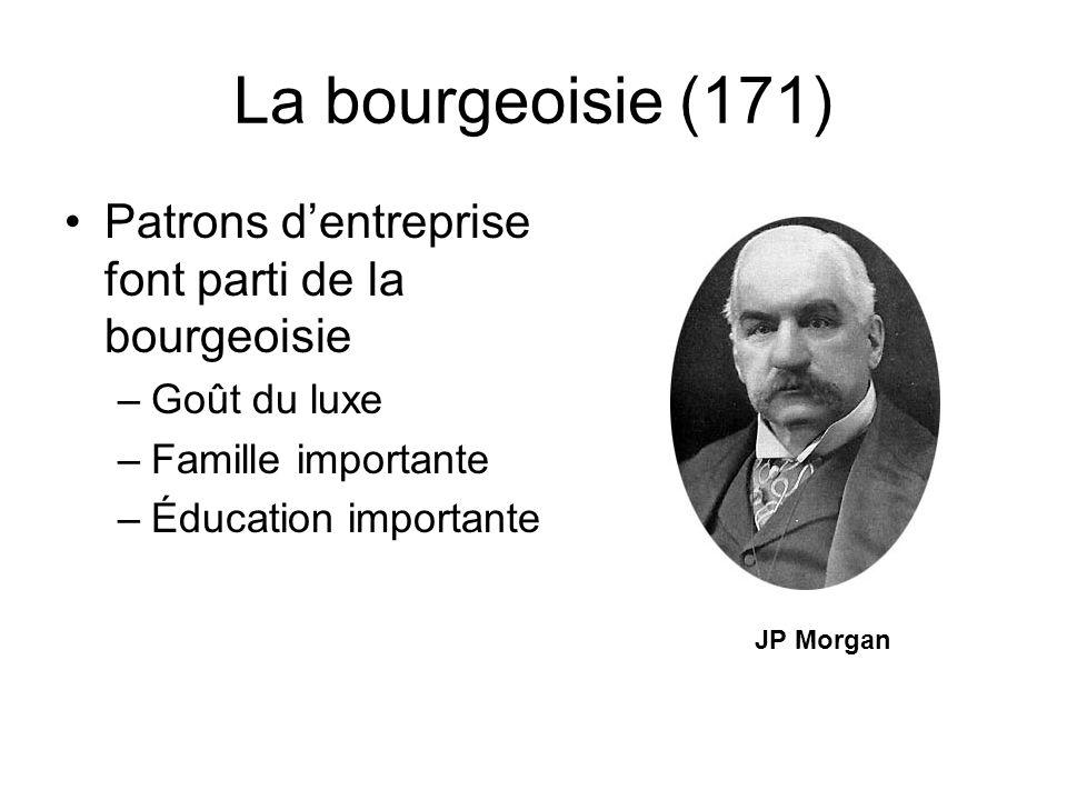 La bourgeoisie (171) Patrons d'entreprise font parti de la bourgeoisie