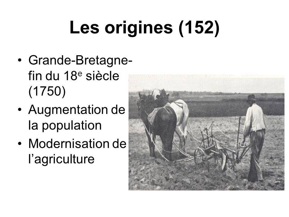 Les origines (152) Grande-Bretagne- fin du 18e siècle (1750)
