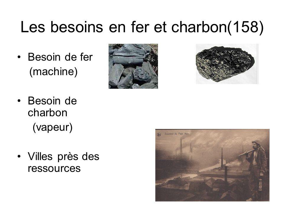Les besoins en fer et charbon(158)