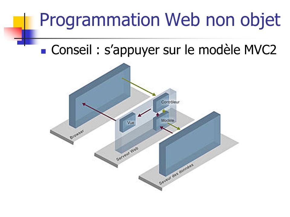Programmation Web non objet