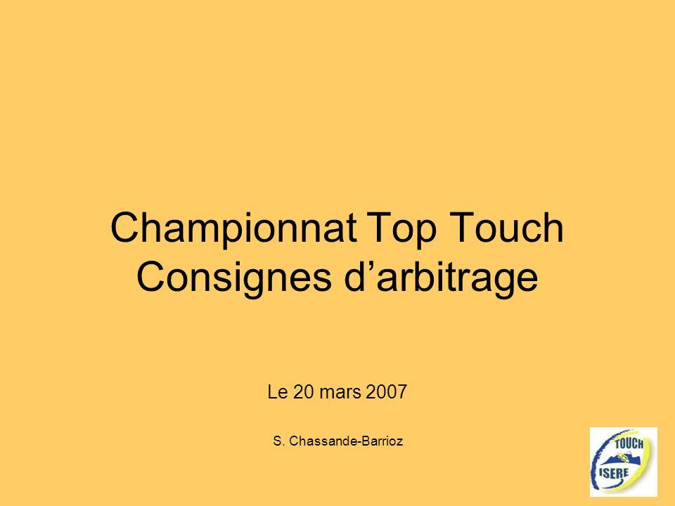 Championnat Top Touch Consignes d'arbitrage
