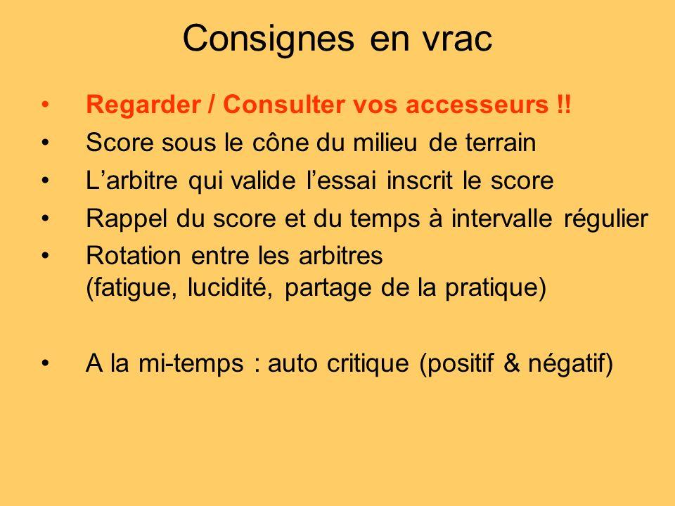 Consignes en vrac Regarder / Consulter vos accesseurs !!